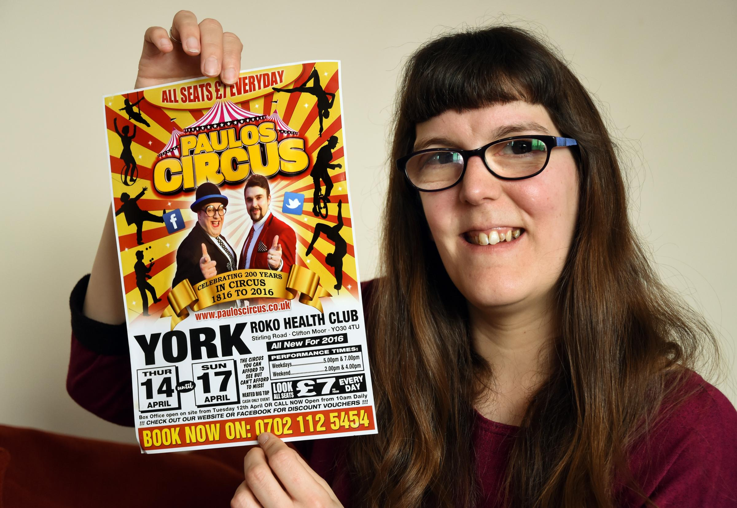Lainie Thornhill, who is helping to organise a free circus show for flood affected York residents   Pic: Nigel Holland