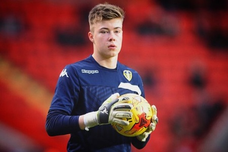 LOAN ADDITION: Leeds United keeper Bailey Peacock-Farrell has joined York City in a one-month loan deal