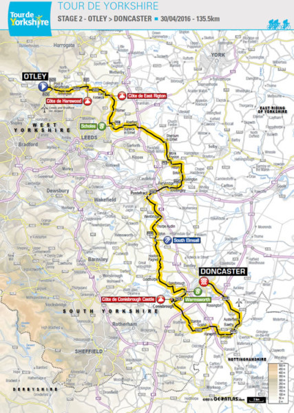 Tour De Yorkshire Map Stage 2 map and timings | Tour de Yorkshire   Selby to York Tour De Yorkshire Map