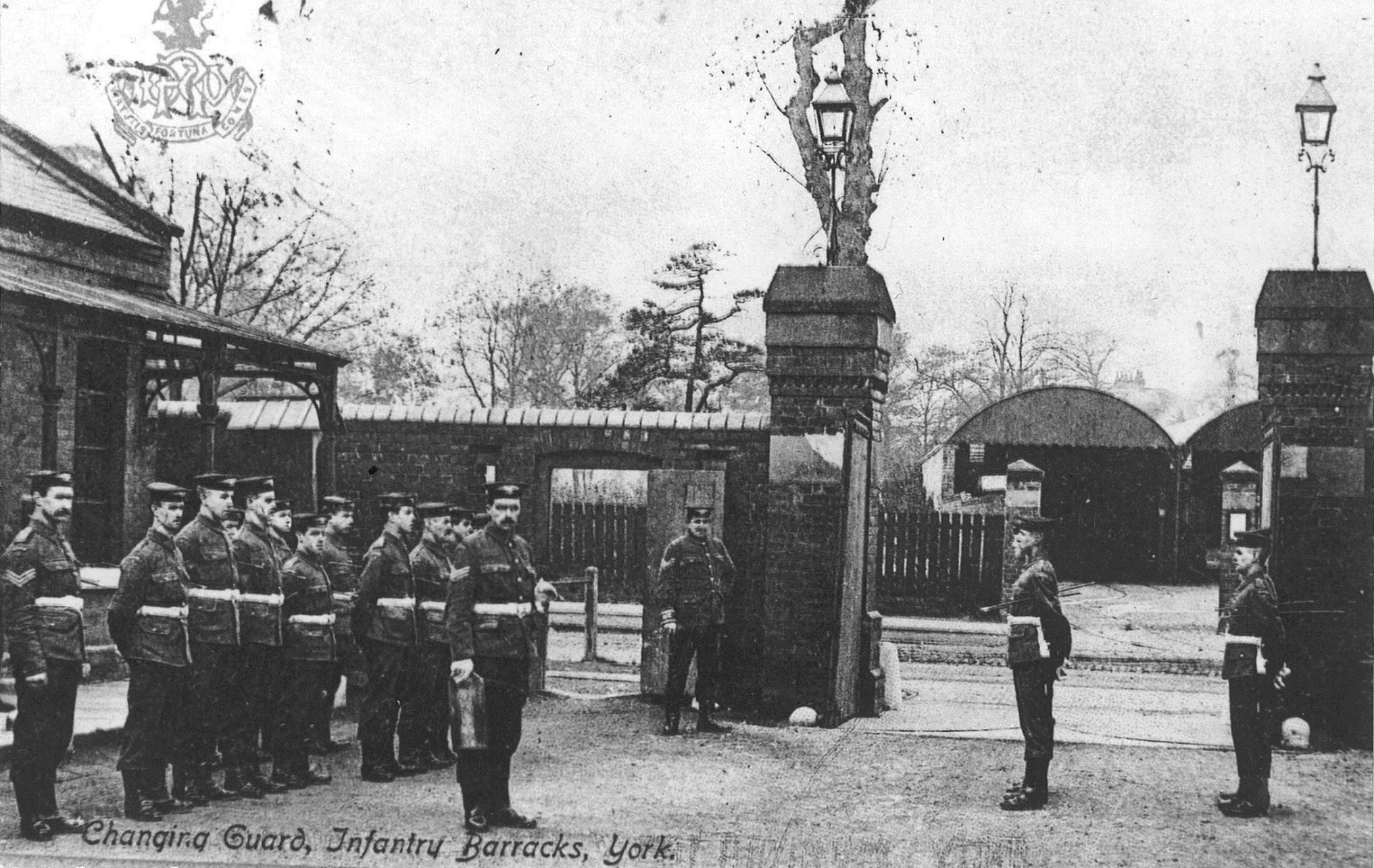 Changing of the guard at  Imphal Barracks in Fulford Road, date unknown