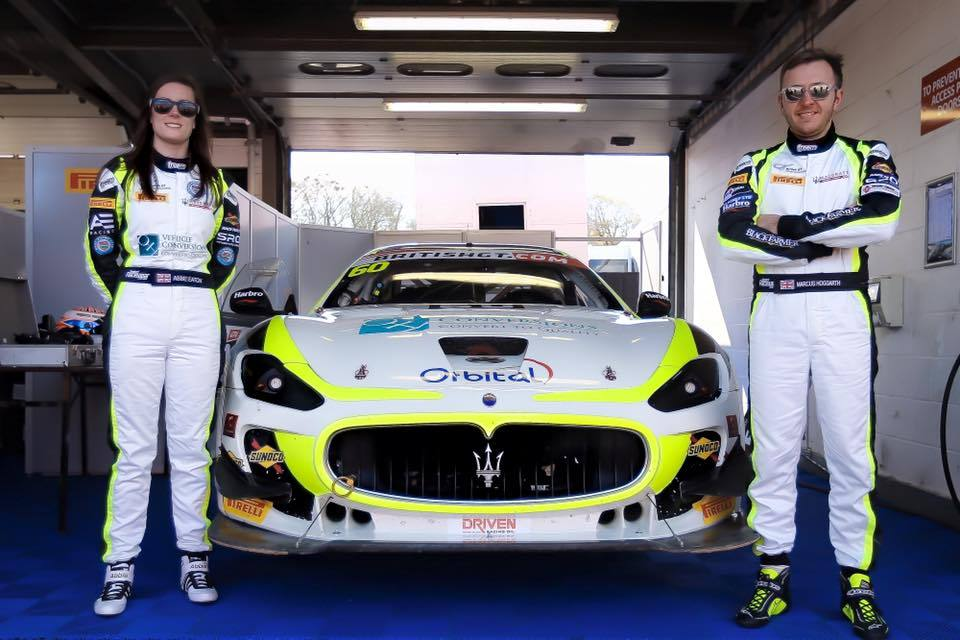 Abbie Eaton & Marcus Hoggarth with their Maserati GT MC GT4