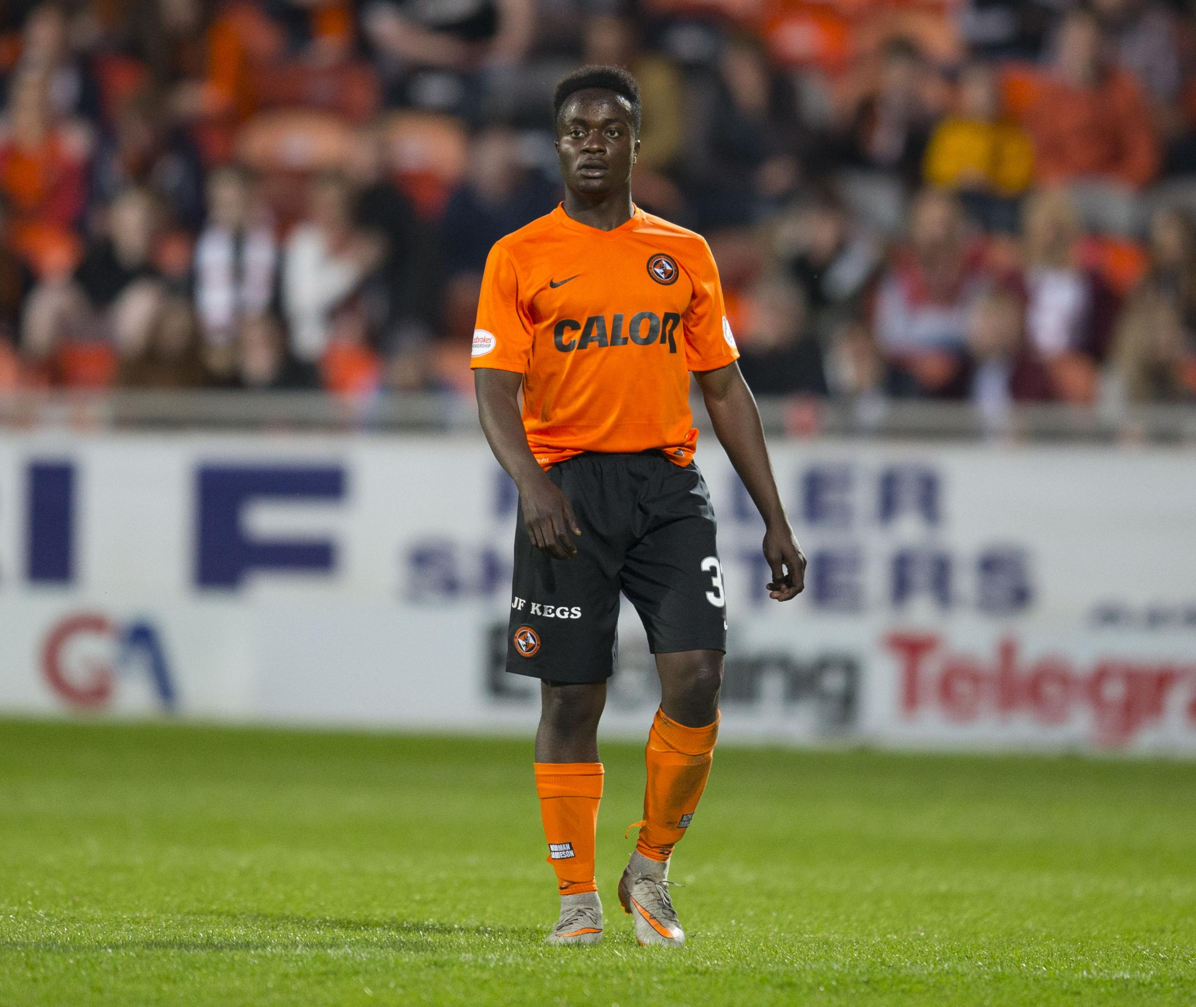 NEW ARRIVAL: Dundee United attacker Justin Johnson has agreed loan terms with York City