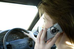 A driver on the phone