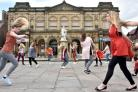 York St John University arts festival dance students taking part in a dance trail. Picture: Frank Dwyer