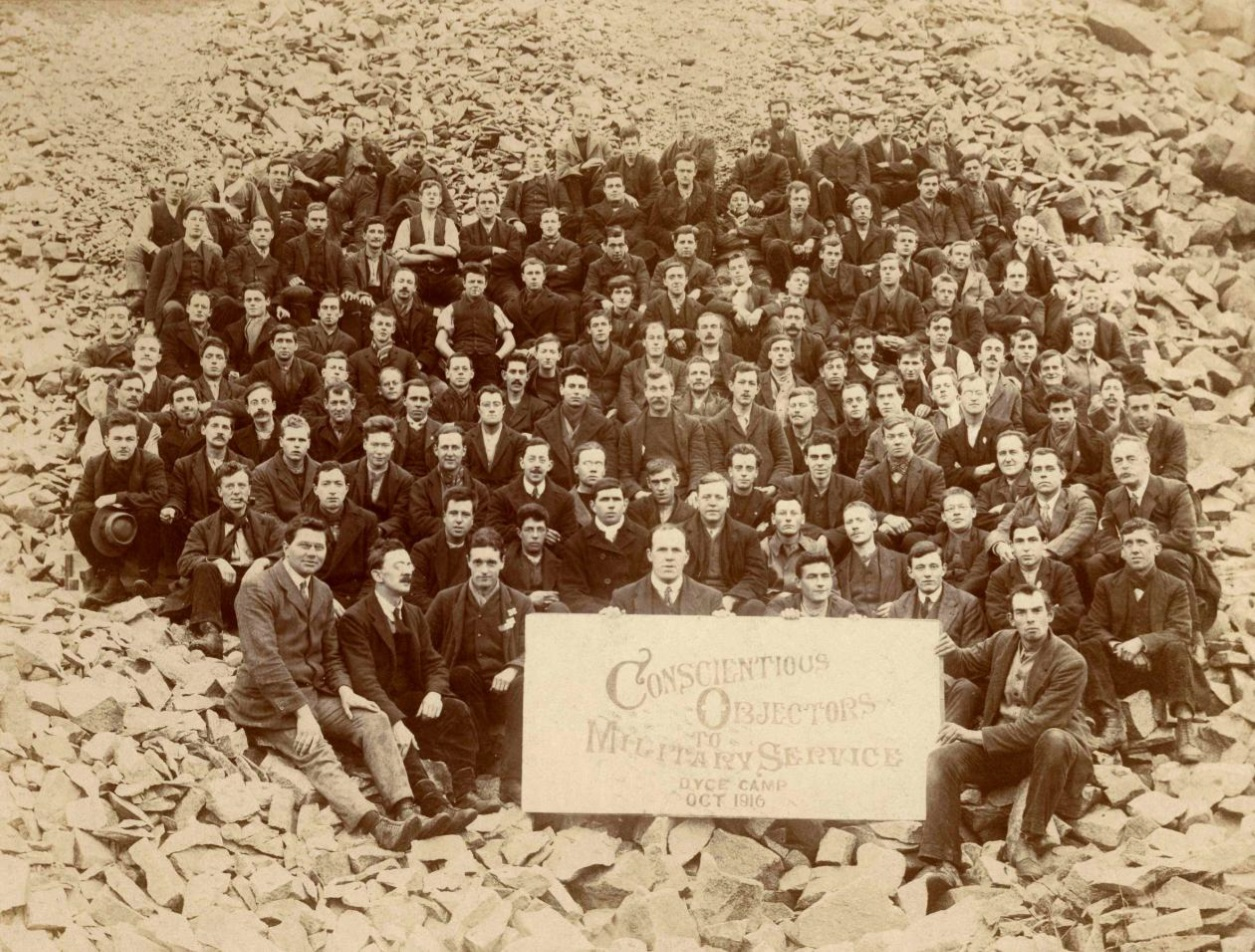 Conscientious objectors at the Dyce work camp near Aberdeen - among them members of the Richmond 16