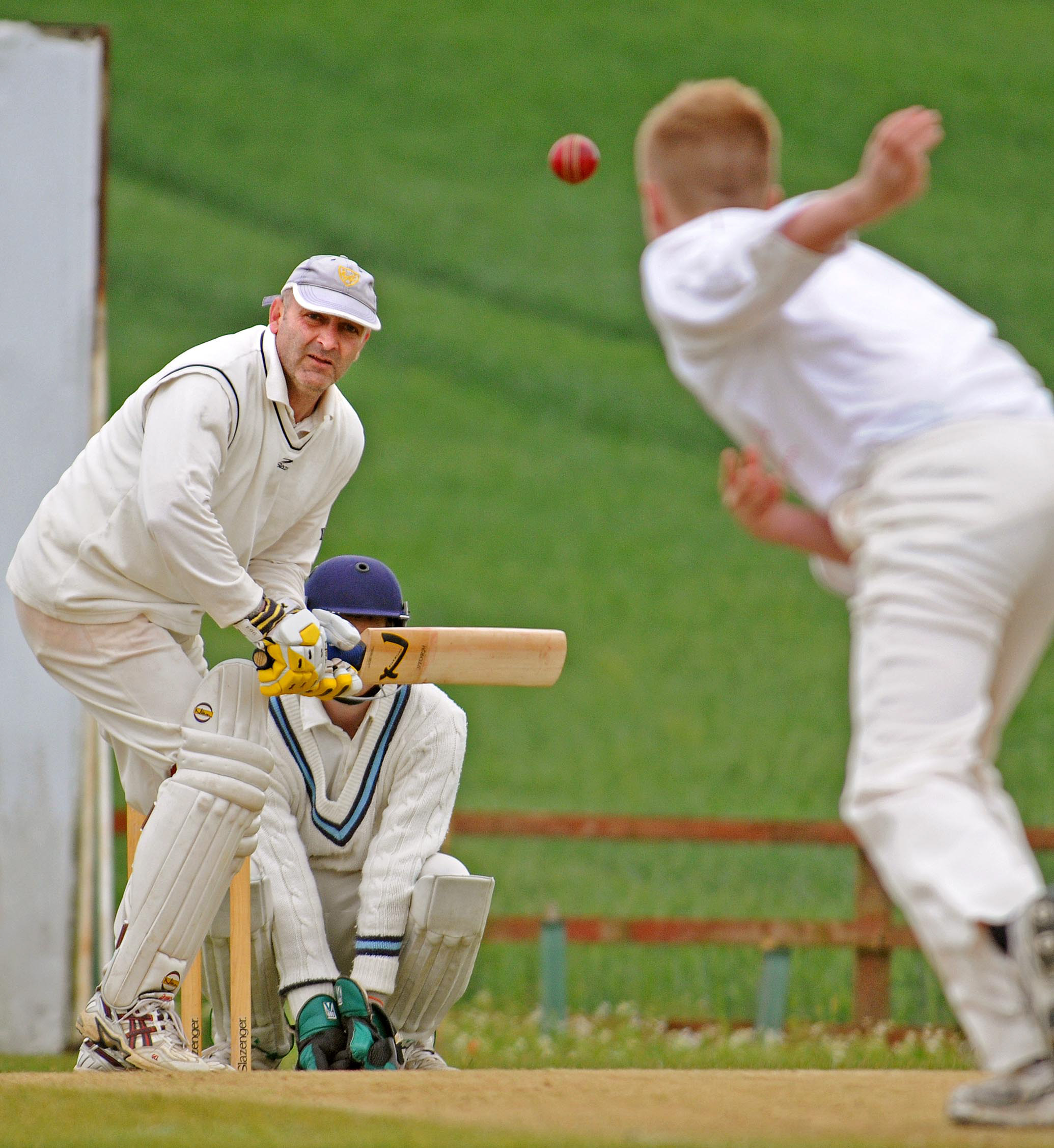 LOOKING WEL: Westow's Andrew Westow hit a half-century during his team's HPH York Vale Cricket League opening-day victory over Kelfield. Welford's efforts saw the championship favourites prevail by 61 runs