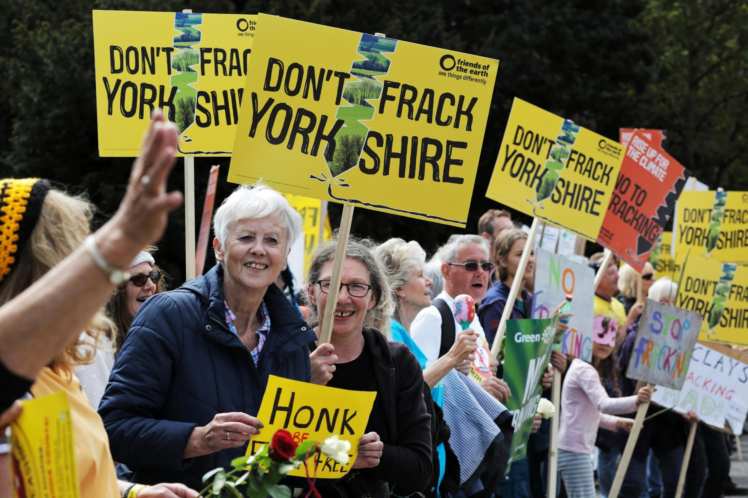 A protest against fracking outside County Hall, Northallerton