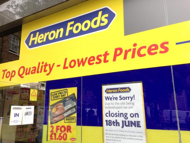 Heron Foods will close on Saturday