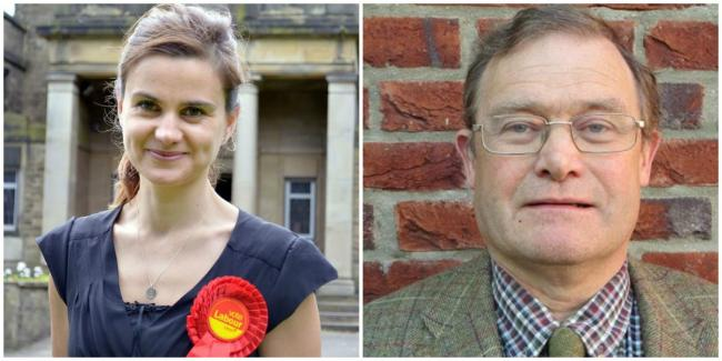 The late Jo Cox MP, left, and Cllr Dominic Peacock, right