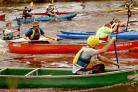 A canoe race gets under way during last year's Festival Of The Rivers on the Ouse