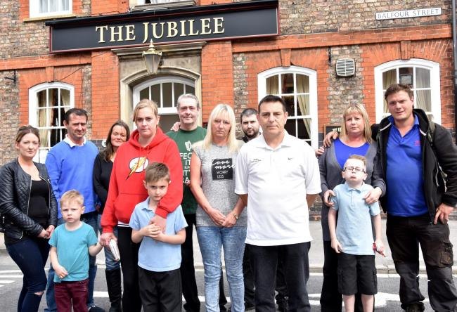 Locals at The Jubilee, which could now be saved
