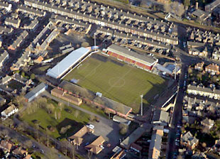 York City FC's home at Kit Kat Crescent, in York