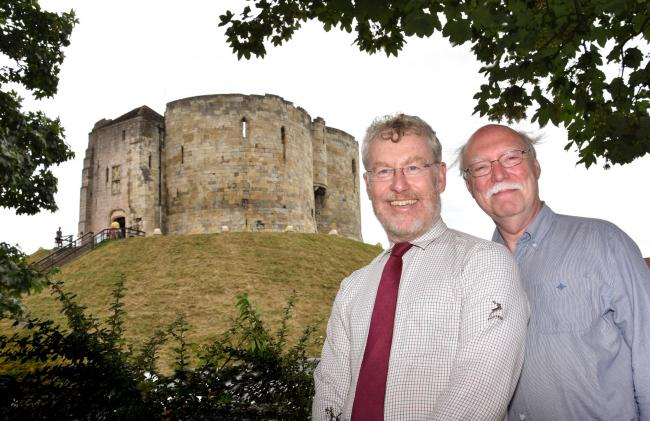 Fighting for York: Civic Trust chief executive David Fraser and chairman Andrew Scott