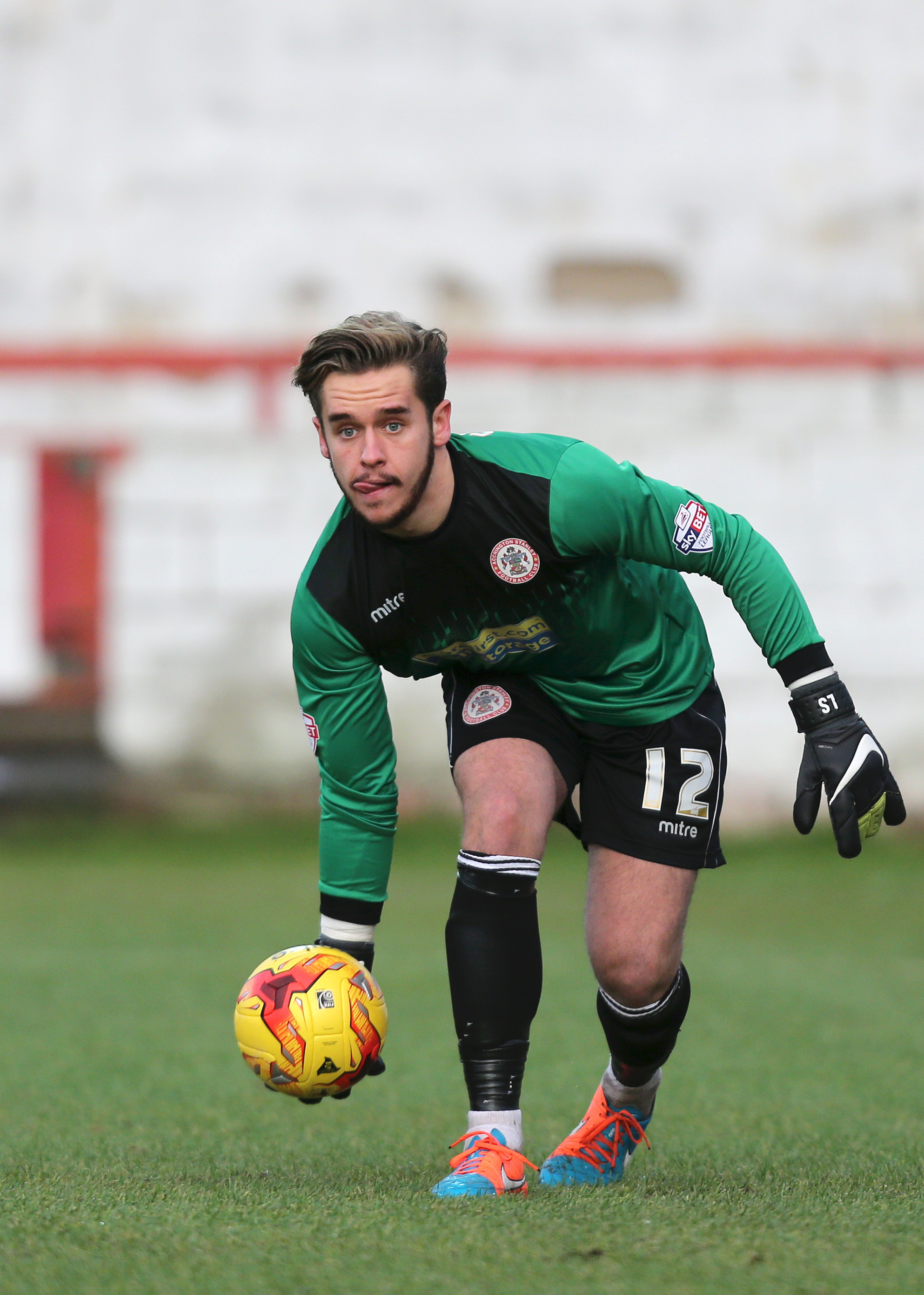New signing: Goalkeeper Luke Simpson in action for former club Accrington Stanley