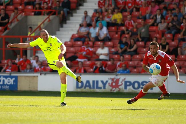 BRODIE GOES FOURTH: York City striker Richard Brodie netted for a fourth game on the trot during a 2-1 defeat at Wrexham. Picture: Gordon Clayton