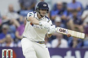 Alex Lees made 70 as Yorkshire closed in on avoiding an innings defeat at Hampshire – Picture: Allan McKenzie/SWpix.com