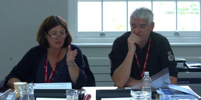 Police and Crime Commissioner Julia Mulligan and Chief Constable Dave Jones during a meeting in 2016.