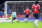 MENSAH BLOW: Far-from-clever home defending by York City led to Bernard Mensah's winning goal for Aldershot