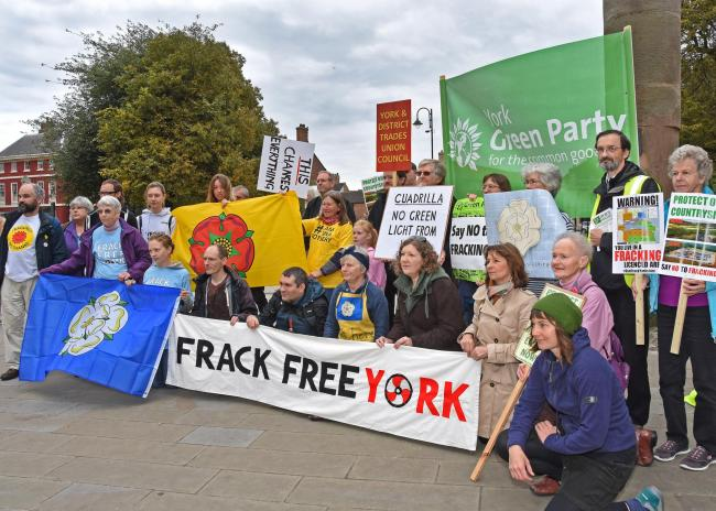 Frack free York protesters pictured on a previous occasion