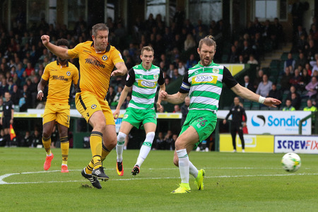 Jon Parkin, left, who has now rejoined York City