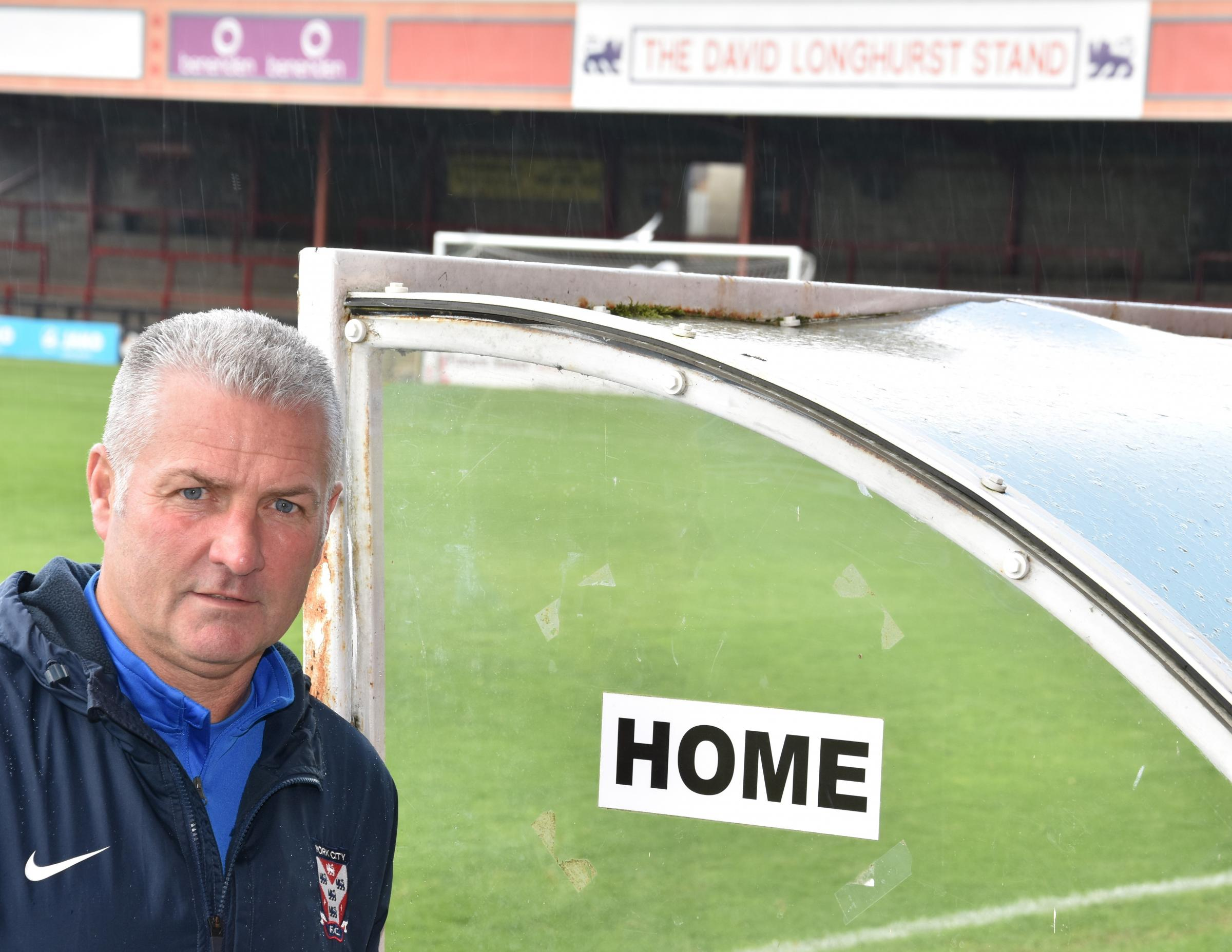 RALLY CRY: Gary Mills has urged York City's patient supporters to get behind their team