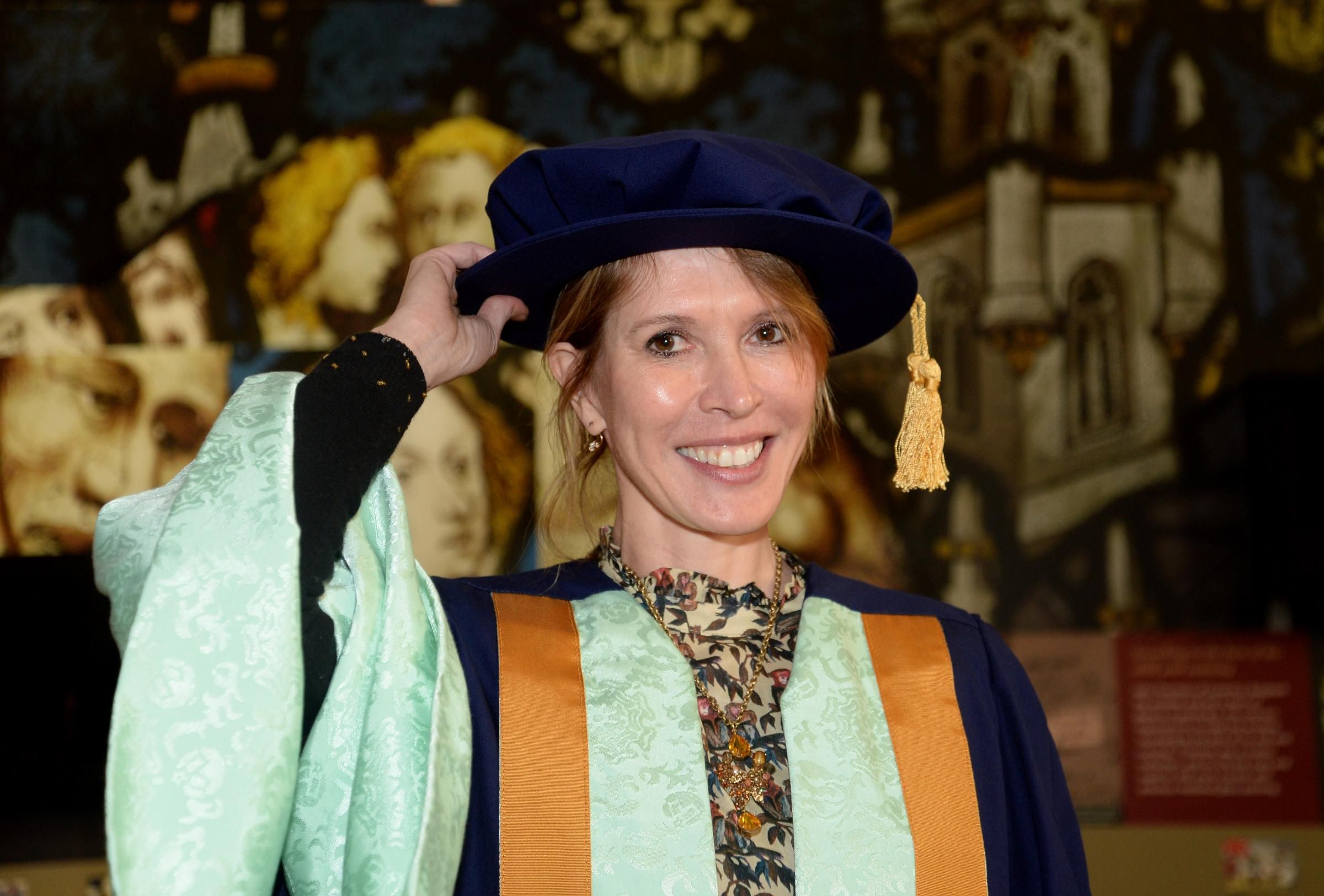 Julia Davis before receiving her honorary degree from York St John University. Picture: Anna Gowthorpe