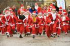 The Santa Fun Runs at Castle Howard. Pictured are runners in the first race. Raising funds for Ryedale Special families. Picture David Harrison.