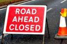 Road and path closures warning