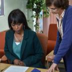 York Press: EastEnders snaps show Denise hovering over adoption forms