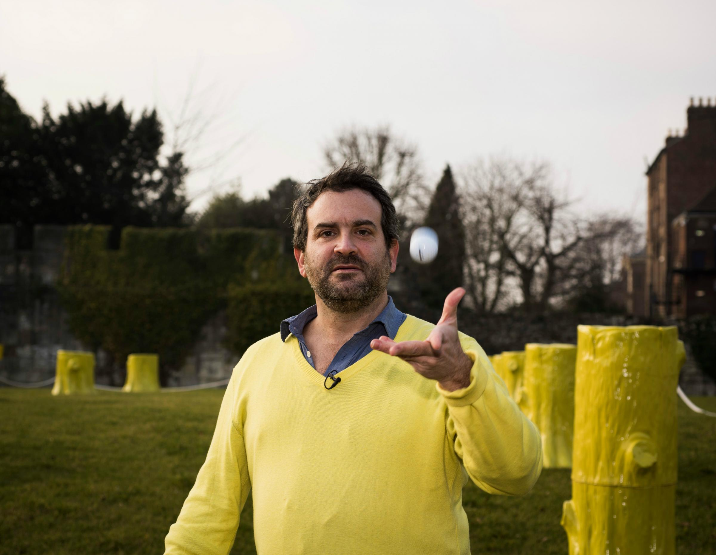 Doug Fishbone launching crowd-funding campaign for Leisure Land Golf mini golf course in York Art Gallery's Artists Garden