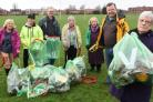 Foxwood Residents Association chair Shirley Gumley and residents collect litter in their area.Pic Nigel Holland