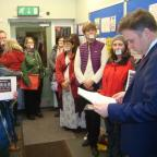 York Press: MP Julian Sturdy reads the letter presented by Stop the Silence campaigners from York for Europe