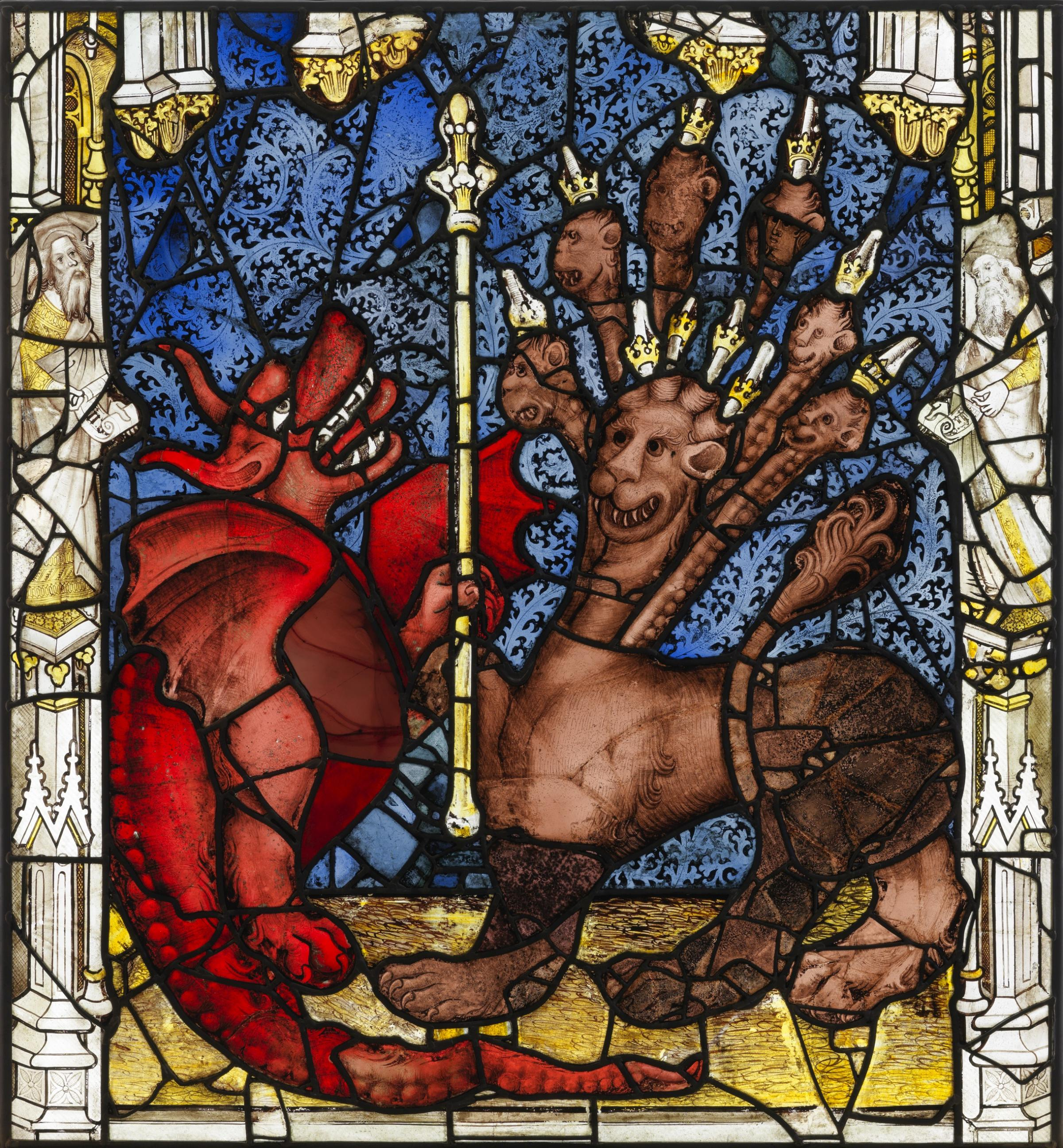 Revelation: The dragon and the beast, from York Minster's Great East Window