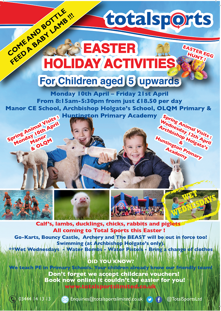 Total Sports Limited Easter Holiday Camps