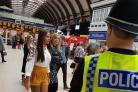North Yorkshire Police on patrol at York Railway Station Picture: @SNAYorkCityEast.