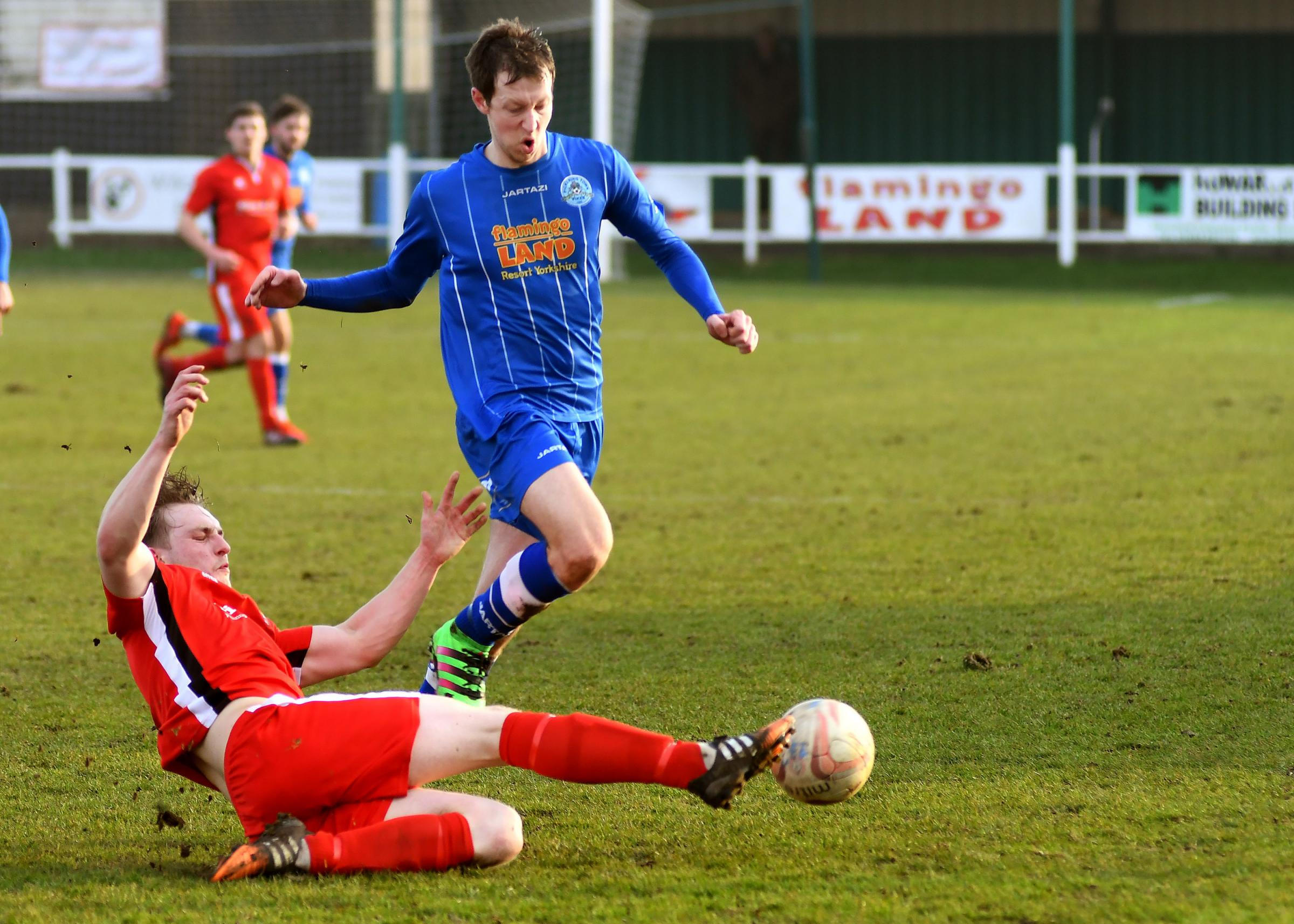 Former Pickering Town forward Joe Dale, who hit four goals in Selby Town's 5-0 Northern Counties East League division one win at Rossington Main