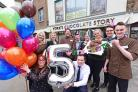 York's Chocolate Story Staff celebrate as the attraction turns 5!