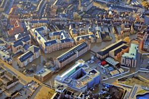 Aerial view of York as flood waters caused misery for thousands on December 27 2015. Picture: Ross Parry