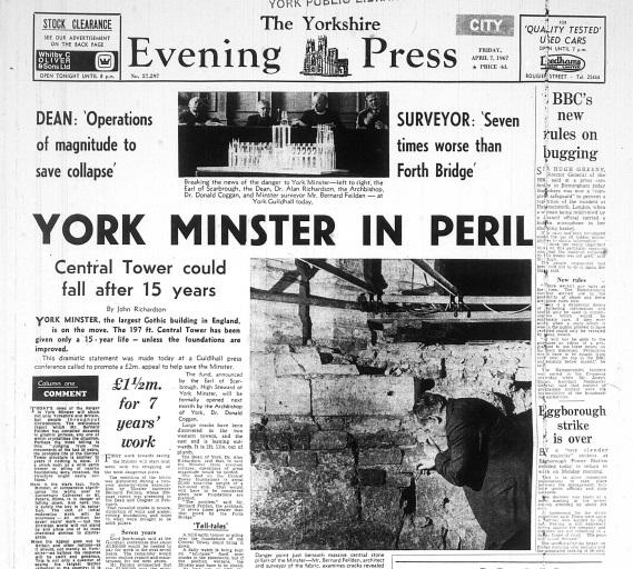 How York Minster was saved from collapse 50 years ago