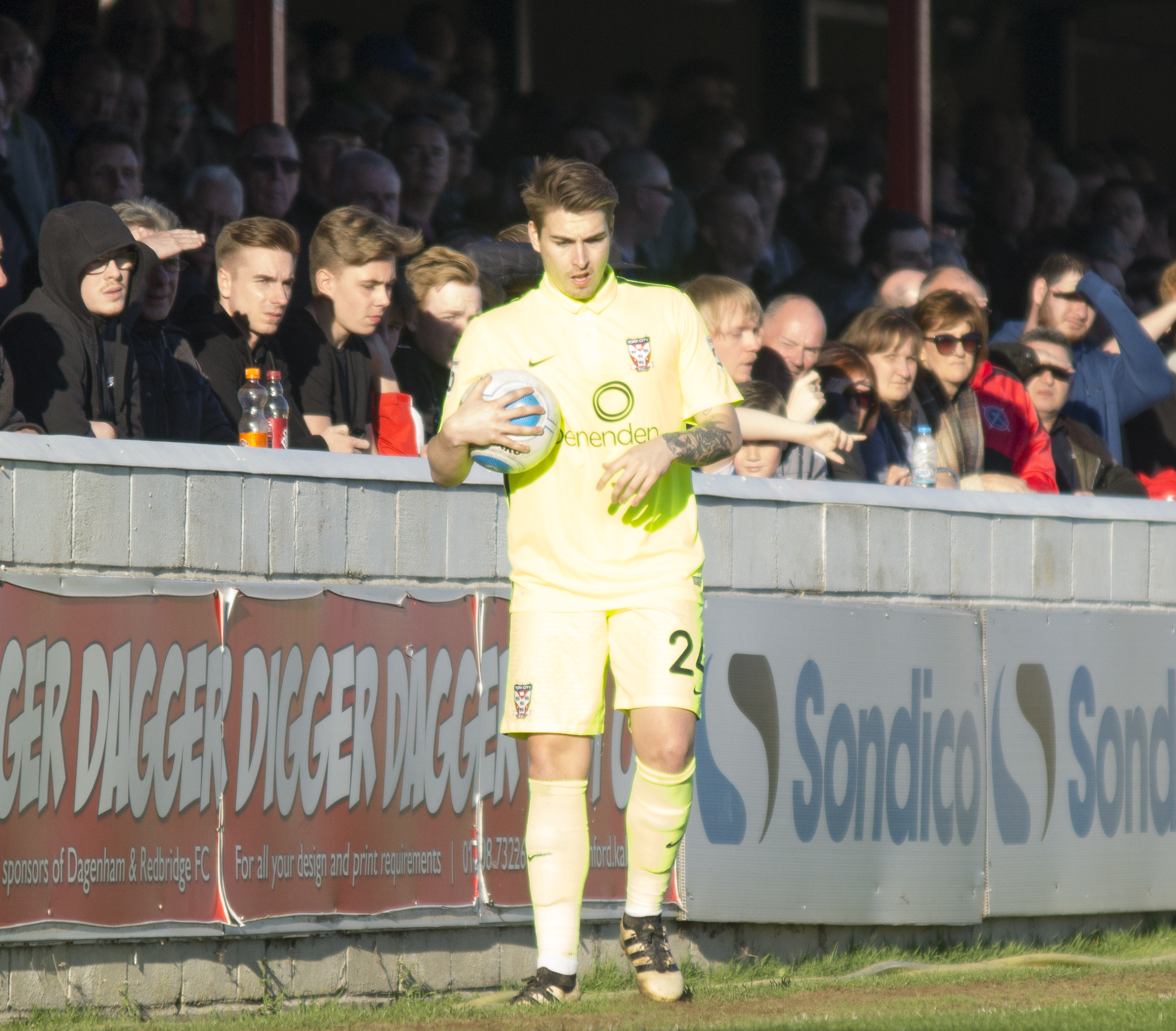 LOAN MOVE: York City long-throw specialist Sam Muggleton has moved to Scarborough Athletic until the end of the season
