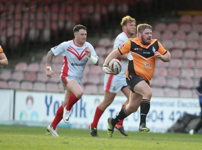 York City Knights' The Press Player of the Month for March, Adam Robinson