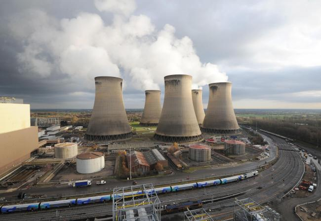 Drax Power Station, Selby North Yorkshire England UK. Picture: Anna Gowthorpe.