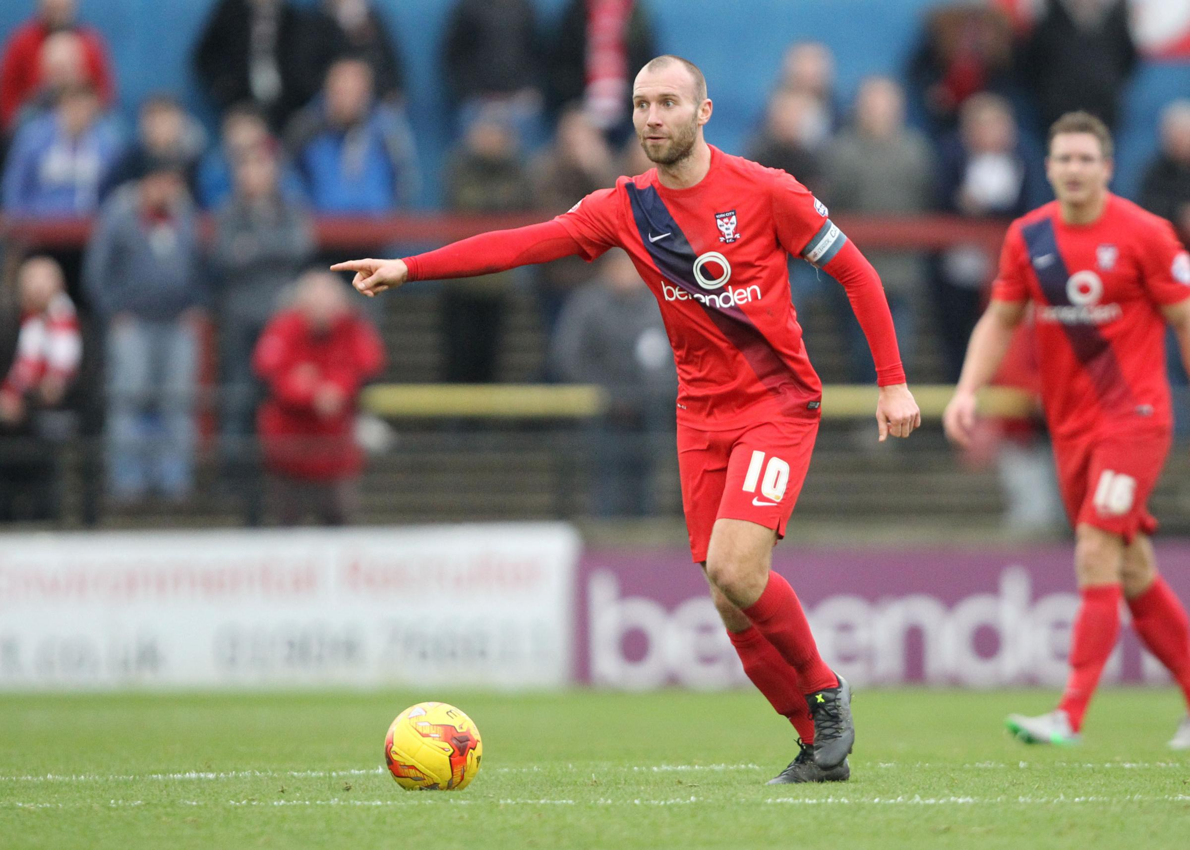 BACK AT BOOTHAM: Russell Penn has rejoined York City