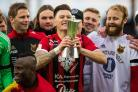 CUTTING IT: Former York City youth-team attacker and Tadcaster Albion winger Jamie Hopcutt has proven a hit in Scandinavia, where he has helped unfashionable Ostersund win the Swedish Cup final