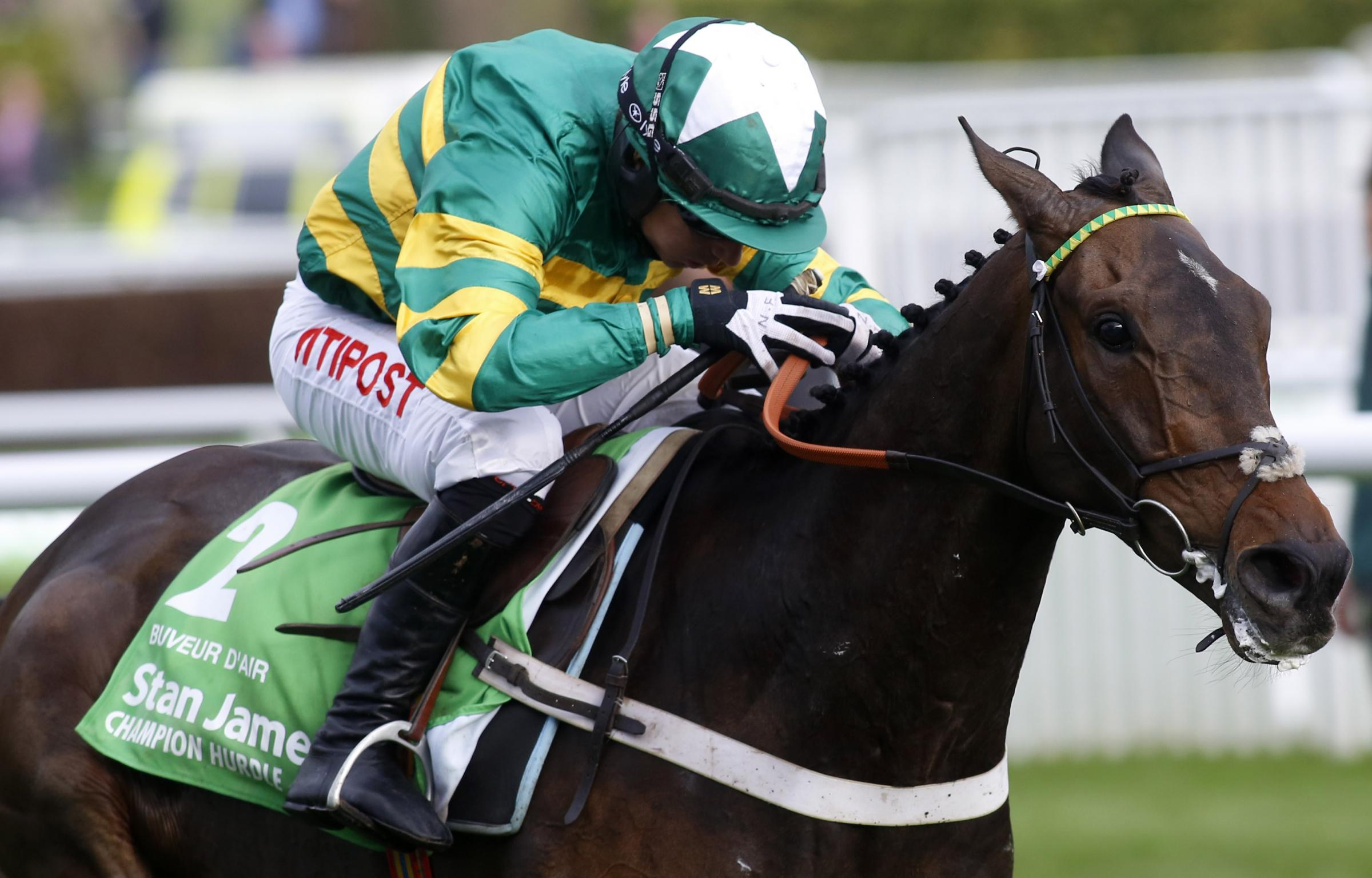 Buveur D'Air wins last year's Champion Hurdle under Noel Fehily and is fancied for a repeat performance at Cheltenham today – Picture: Julian Herbert/PA Wire