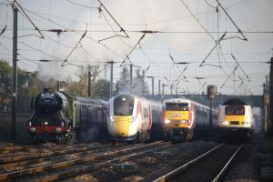 The four trains on their way to York. Picture: Virgin Trains East Coast.