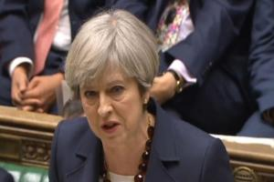 PM Theresa May in the Commons