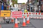 Gillygate Road closed   Picture  Frank Dwyer.