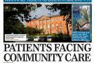Flashback to 2015, and The Press's front-page coverage of the implications of the closure of Bootham Park Hospital