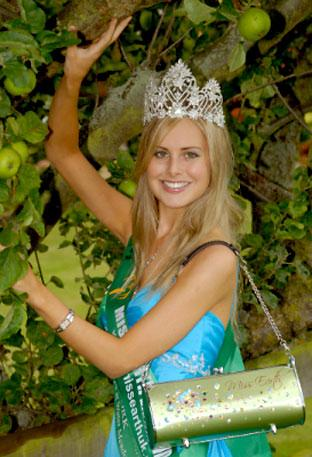 Caroline Duffy, of York, who has been crowned Miss Earth